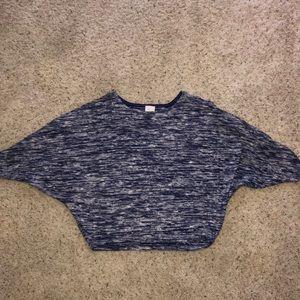 Anthro lightweight sweater button/peekaboo sleeve